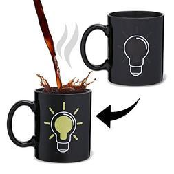 Lightbulb Heat Change Mug, Color Change Coffee Cup, Unique G