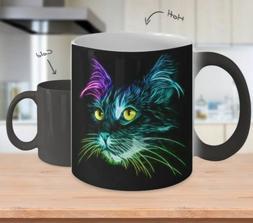 Lighting Cat Mug - 11 oz Color Changing Mug - Gift For Cat L