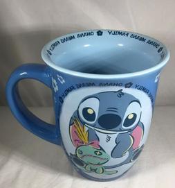 Disney Lilo And Stitch Blue Ohana Means Family Coffee Mug Cu