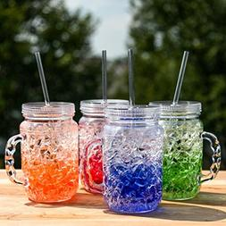 Lily's Home Double Wall Gel-Filled Acrylic Freezer Mason Jar
