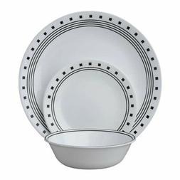 Corelle Livingware 18-Piece Dinnerware Set, City Block, Serv