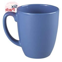 Corelle Livingware Memphis 11-oz Stoneware Mug Blue, Pack of
