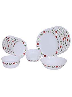 Corelle Livingware Spring Pink 20 Piece Dinnerware Set