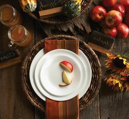 Corelle Livingware Winter Frost Dinnerware Set, 16 Piece, Wh