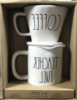 Rae Dunn  LL Coffee Drip & Teacher Fuel Mug Gift Set By Mage