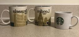 Starbucks London Brussels And Classic Collector Series Mugs