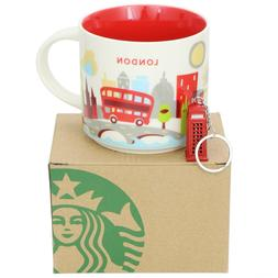 Starbucks London Mug You Are Here Series YAH 14oz NEW Box, L