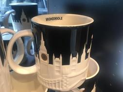 Starbucks London Relief Mug Black Big Ben Tower Bridge St Pa