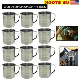 Lot of 1-48 Pack Stainless Steel Coffee Soup Mug Tumbler Cam