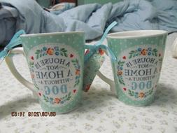 Lot of 2 New Dog Mugs -A House Is Not A Home Without A Dog N