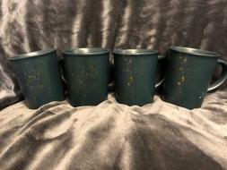 Lot Of 4 Hearth & Hand With Magnolia Blue Stoneware Coffee M