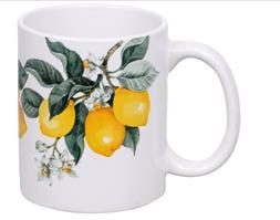 Lots Of Printed Lemon Ceramic Mugs, 12 oz. Free Shipping