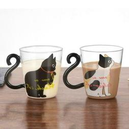 Lovely Tail Coffee Cat Mug 1Pcs Gifts Tea - Cup Glass 300ml