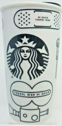 Starbucks New Jersey 12 oz Ceramic Travel Tumbler Mug 2016 L