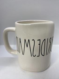 Rae Dunn Magenta BRIDESMAID Mug NEW Large Letter LL Artisan