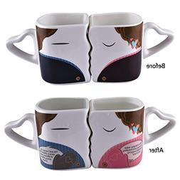 Magic Color Changing Heat Sensitive Morning Coffee Mug Set -
