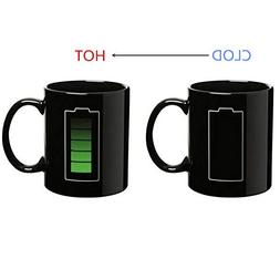 Magic Coffee Heat Sensitive Mug, Battery Charging Design, Co