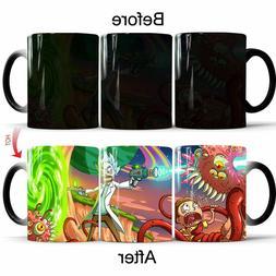Magic Color Change Coffee Rick And Morty Mug Tea Hot Cup Hea