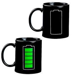 Magic Heat Changing Coffee Mug - Battery Meter Funny Cup 100