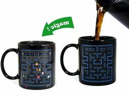 magic heat changing mug changes color when