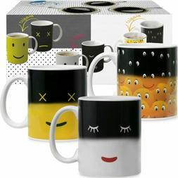 Heat Sensitive Coffee Magic Mugs - Set of Color Cute Coffee