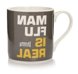 Plain Lazy Man Flu is Real Mug by Shruti Design Humorous Phr