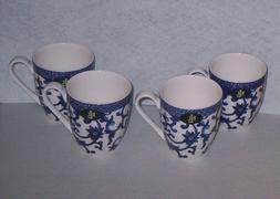RALPH LAUREN MANDARIN BLUE   CUPS MUGS - SET OF 4 NWT