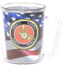 Spoontiques Marine 16 oz Acrylic Mug in Blue/Red/White