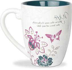 Pavilion Gift Company Mark My Words Wife Floral Butterfly Co