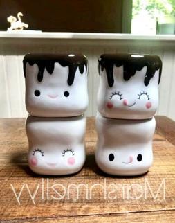 Marshmallow mugs Ceramic set of 4