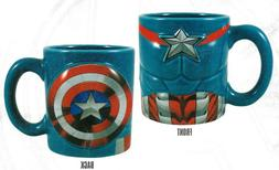 Marvel Avengers Captain America Sculpted Ceramic Coffee Mug