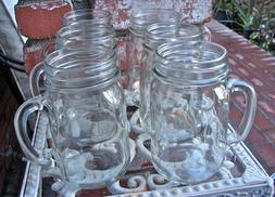 Mason Jar Mug With Handles Set of 6 - 16 Ounces Closeout  Fr