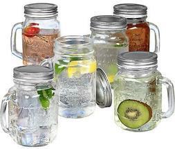 Estilo Mason Jar Mugs with Handles Old Fashioned Drinking Gl