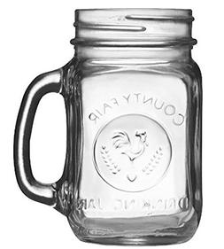 Set of 12 Mason Mugs 16 oz. Mason Jar with Handle Trendy Pin