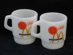 McDonald's Anchor Hocking Fire King Coffee Mug Cup - Set of