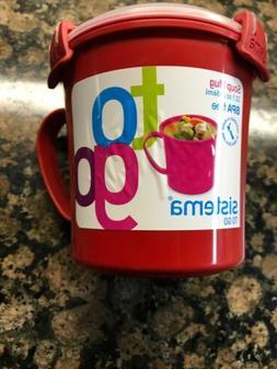 Sistema Medium Microwave Cookware Soup Mug, 22.1 Ounce/2.8 C