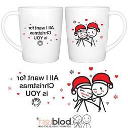 BOLDLOFT Merry Christmas Couple Mugs Set of 2|Christmas Mugs