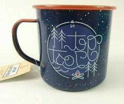 Metal Coffee Mug, Get Lost Mug, Rustic Blue 17.6 fl oz