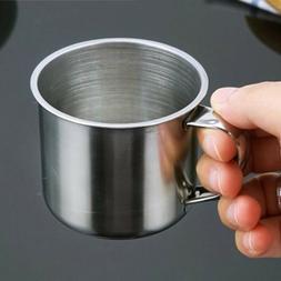 Metal Drinking Tumbler Pint Coffee Mug Portable Cup Stainles