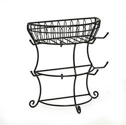 Metal Mug Tree Rack Storage Basket Organizer French Countrys
