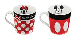 Mickey and Minnie Mouse Ceramic Coffee Mug Set