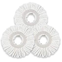 3 Pieces Microfiber Mop Heads Refills For 360 Spin Magic Mop