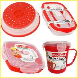 Microwave Lunch Box Food Storage Colander Steamer Soup Mug R