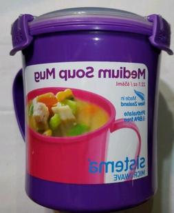 Sistema Microwave Soup mug Cookware Cup Noodles Bowl Storage