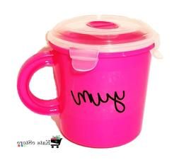 Microwave Soup Mug | Travel Soup Cup w/ Vented Lid | BPA FRE
