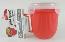 Microwave Soup Mug with Secure Snap Close Vented Lid 20OZ