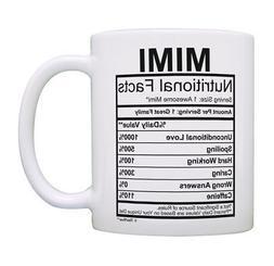 Mimi Coffee Mug Mimi Nutritional Facts Mimi Birthday Gifts C