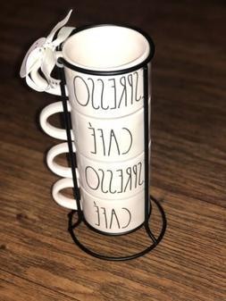 Rae Dunn Mini coffee/ Espresso stackable mugs.