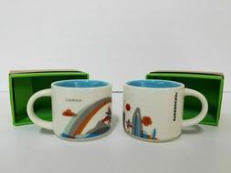 Starbucks Mini Coffee Mug 'You Are Here' Collection HAWAII O