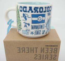Starbucks MINI Colorado Been There Mug Ornament 2 oz Blue NI
